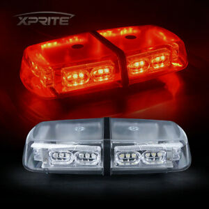 Xprite Red 36 Leds Strobe Light Bar Roof Top Mini Beacon Emergency Flash Warning