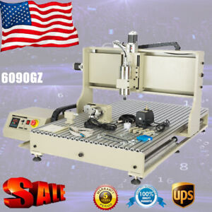 6090 4 axis Cnc Router Engraver Usb 2 2kw Wood Carving Drilling Milling Machine