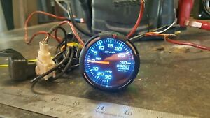 Defi Racer Turbo Boost Gauge 30inhg To 30psi 52mm W Blue Used S13 S14 Supra