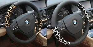 Leopard Print Steering Wheel Cover Car Accessories Protect Leather Driving