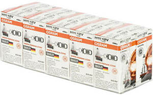 Osram H11 X 10 Pack Lot Standard 64211l Oem Bulbs 12v 55w Pgj19 2 Germany Dot