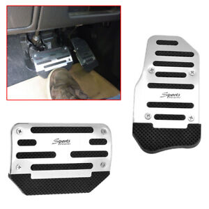 Universal Racing Sports Non Slip Automatic Car Gas Brake Pedals Pad Cover X2
