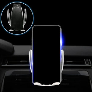 Automatic 360 Qi Wireless Car Charger Air Vent Holder Mobile Phone Accessories