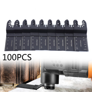100pack Universal 34mm Oscillating Multi Tool Saw Blades Carbon Steel Cutter Diy