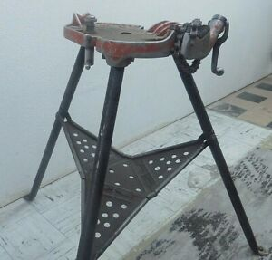 look Ridgid No 450 1 8 To 5 Portable Chain Pipe Threading Vise Tristand K