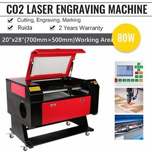 80w 20 X 28 Co2 Laser Engraver And Cutter Machines With Ruida Lightburn