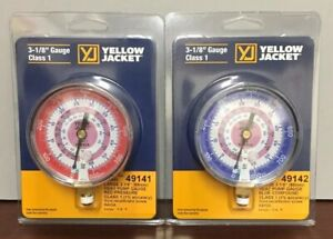 Yellow Jacket 3 1 8 R410a Replacement Gauges Hi low 49141 49142