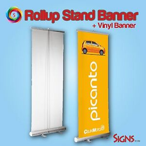 2 Retractable 33 x79 Roll Up Banner Stand Trade Show Sign Signage Display bag