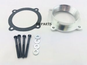 Silver Throttle Body Spacer Fit 11 14 Jeep Grand Cherokee 12 14 Wrangler 3 6l