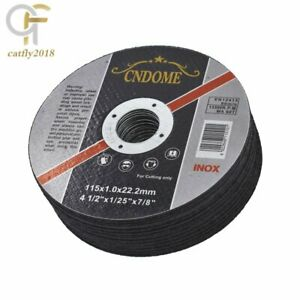 100 Pack 4 1 2 x 040 x7 8 Cut off Wheel Metal Stainless Steel Cutting Discs