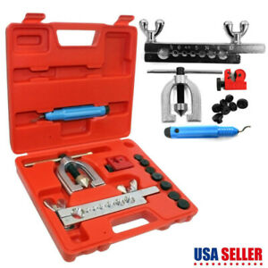 Double Flaring Brake Line Tool Kit Tubing Car Truck Tool 45 Degree With Case New