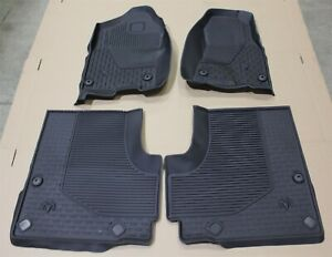 2019 Dodge Ram 1500 Crew Cab All Weather Floor Mat Kit Black Oem Factory Mats