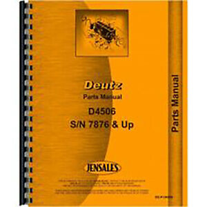 New Deutz allis D4506 Tractor Parts Manual