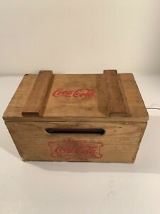 Coca-Cola Wood Crate Am/Fm Radio Not In Working Condition Sold As Is