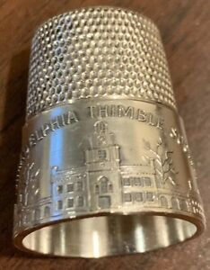 Sterling Philadelphia Thimble Society Thimble Simons Brothers