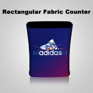 Portable Trade Show Counter Podium Table With Custom Graphic Printing