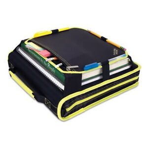 Five Star Zipper Binder 2 3 Ring Expansion Panel Strap 580 Shts Black Yellow