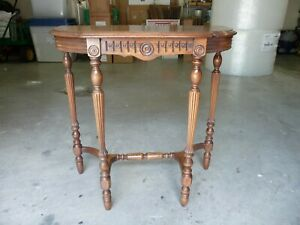 Beautiful Walnut Console Table Great Detail Reduced