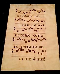 Medieval Illuminated Manuscript Choir Page Gothic European French
