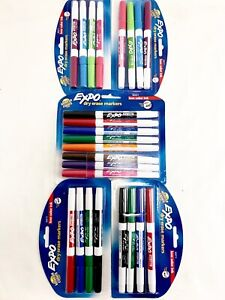 Bulk Lot 24 Expo Low odor Dry Erase Markers Fine Point Intense Colors Cheapest