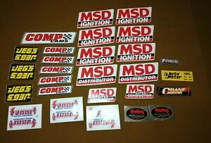 Comp Cam Msd Ignition Jegs Holly Summit Racing Stickers Lot Of 27