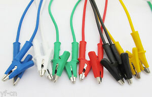 4sets 6colors Silicone High Voltage Alligator Clip To Alligator Clip Test Leads