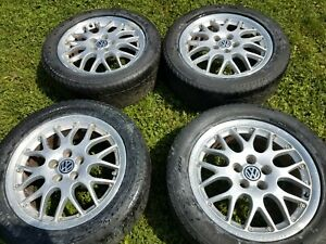 Four Volkswagen Wheels Bbs 16 Inch Rx11 2 Piece Oem 5x100 43mm Offset