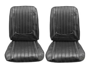 1969 Skylark Custom Gs 350 Gs 400 Black Front Bucket Seat Covers By Pui