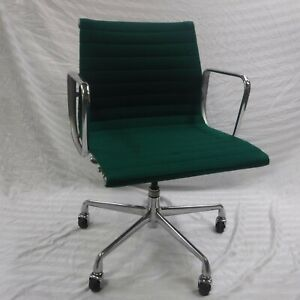 Refurbished Herman Miller Eames Aluminum Group Management Chair Green