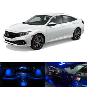 8 X Blue Led Interior Bulbs Kit License Plate Light For 2013 2019 Honda Civic