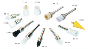 Tpc Dental Snap Screw on And Latch Polishing Brushes