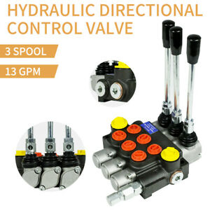 3 Spool Hydraulic Directional Control Valve 13gpm 3600psi Manual Control