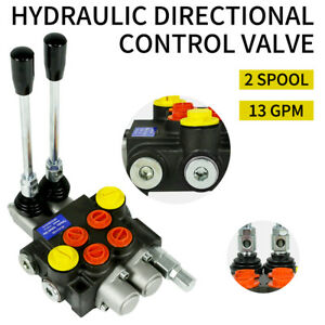 2 Spool Hydraulic Directional Control Valve 13gpm 3600psi Manual Control New