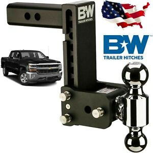B W Ts10040b Tow And Stow Hitch Ball Mount Fits 7 Drop 7 1 2 Rise Dual Ball