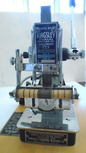 Kingsley 2 Line Hot Foil Stamping Embossing Machine With 2 Line Type Holder