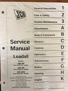 Jcb Loadall 520 50 525 50 525s Loader Service Repair Workshop Manual