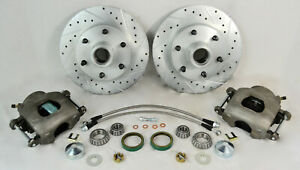 1960 72 Chevy C10 Truck Front Disc Brake Wheel Component Kit 6 Lug Drilled