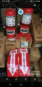 2 Pk Fire Extinguisher 5lb Abc 2019 6 Yr Maintance Fully Recharged W tag