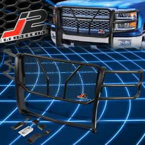 J2 Engineering For 14 15 Chevy Silverado 1500 Front Bumper Grille Brush Guard