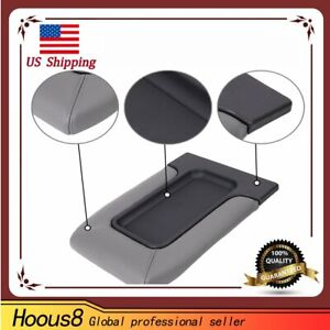 For 2001 2007 Chevrolet Chevy Silverado Center Console Armrest Cover Lid Grey
