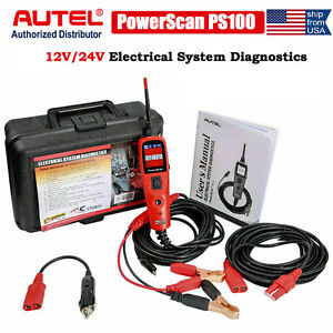 Autel Powerscan Ps100 Electrical System Diagnostics Tool Circuit Tester 12v 24v