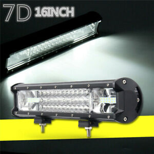 16inch 432w Led Marine Work Light Bar Flood Spot Yacht Boat Stair Deck