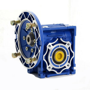 100 1 Worm Gearbox Speed Gear Reduction Nmrv040 Reducer 63b14 For Stepper Motor
