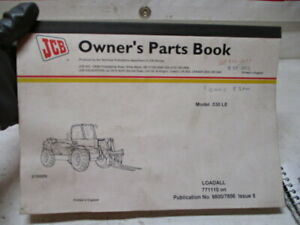 Used Jcb 530le Loadall Owner s Parts Book Manual