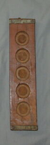 Antique Primitive Hand Carved Wood Candy Maple Sugar Butter Press Mold