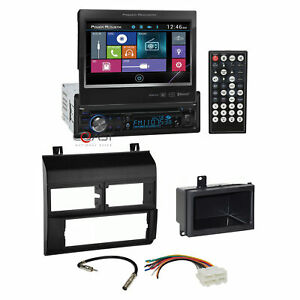 Power Acoustik Bluetooth Radio 7 Lcd Dash Kit Harness For Chevy Gmc Truck 88 9