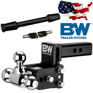 B W Trailer Hitches Ts10047b Ball Mount With 1 7 8 X 2 X 2 5 16 Max Drop 3 5