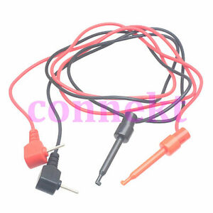 Multimeter Right Angle 2 0mm Banana Plug To Test Hook Clip Probe Cable 1m