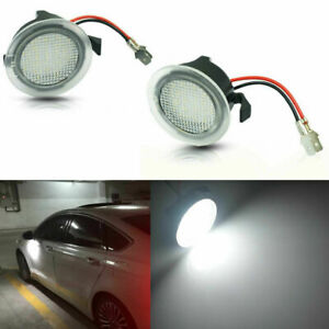 2pcs Xenon White Led Side Mirror Puddle Lights Fits Ford Fusion Gen 2013 2017