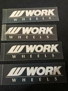 Work Meister Spoke Decals White Color Set Of 4 For 16 00